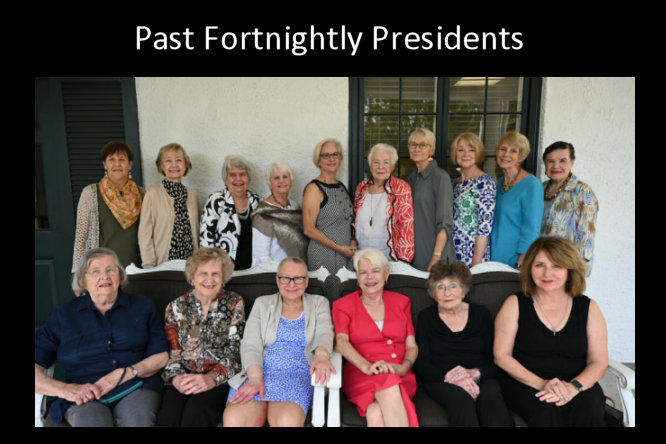 Past Fortnightly Club Presidents